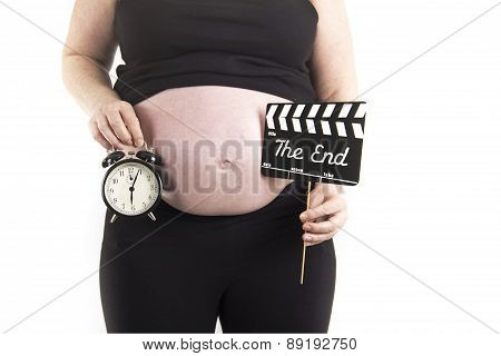 pregnant woman alarm clock due time