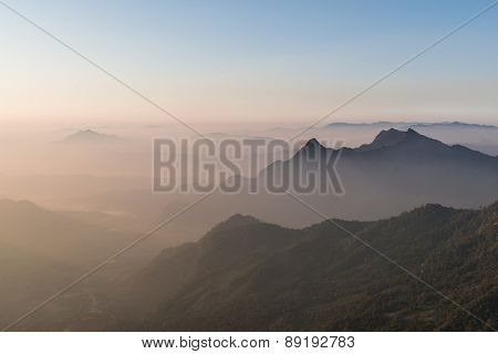 Layer Of Mountain Background
