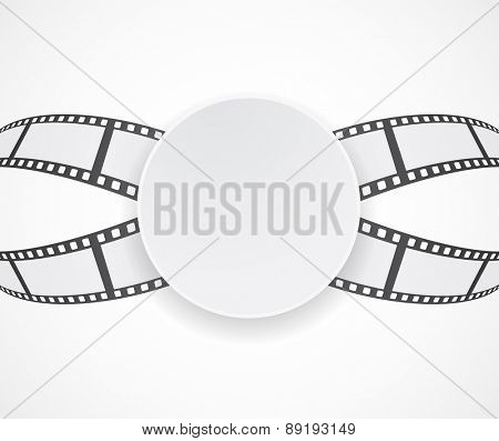 label with film roll strip background banner design