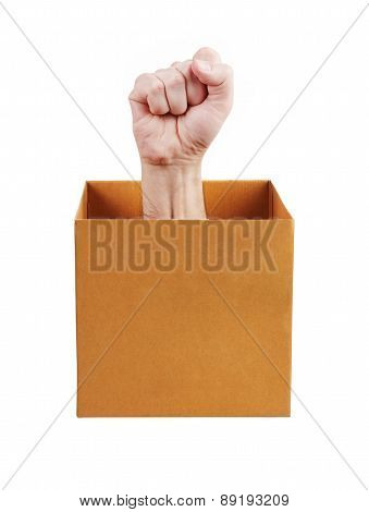 Human Fist Leaned Out Of The Box