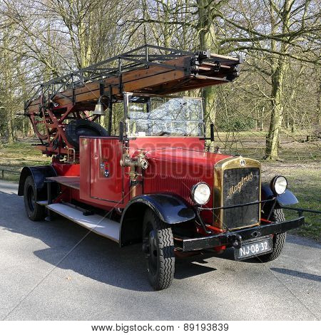 Netherlands - Wassenaar - Circa March 2015: Magirus Old Timer Fire Truck.