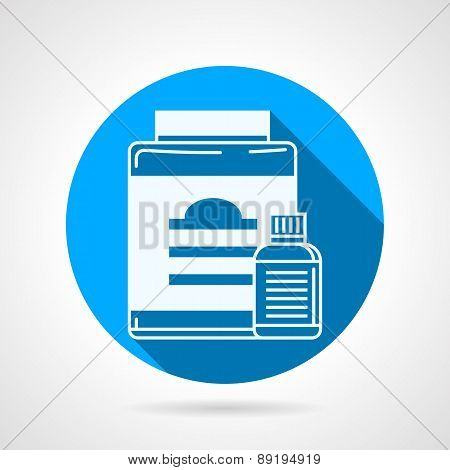 Plastic jars flat round vector icon