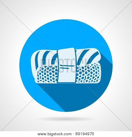 Nigiri sushi flat round vector icon