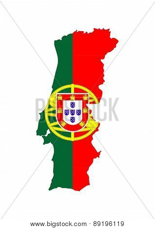 Portugal Flag Map