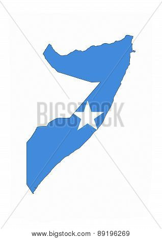 Somalia Flag Map
