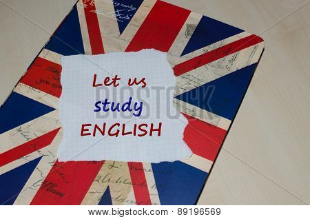Let us study English message on note