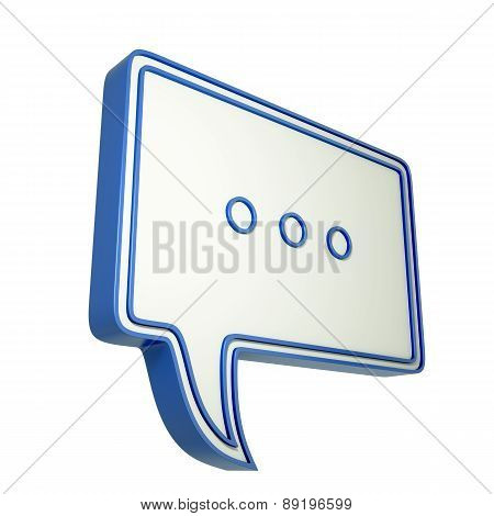 3D Speech Bubble With Three Dots