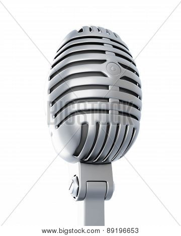 Retro Microphone On A White