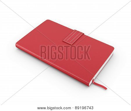 Red Notebook Over White