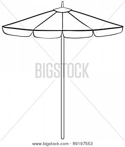 Close up simple design of beach umbrella