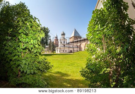 Church Of The Intercession Of The Holy Virgin In Novgorod Kremlin, Russia