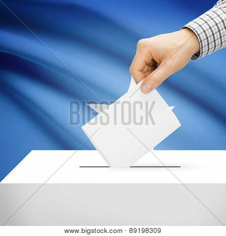 Voting Concept - Ballot Box With National Flag On Background - Somalia