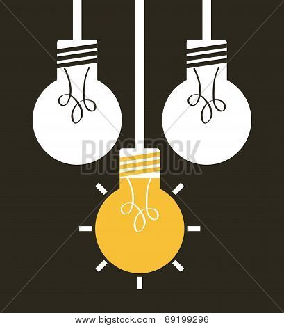 think design over  black background vector illustration
