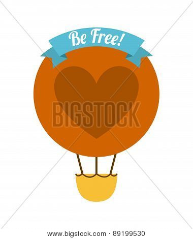 be free over white background vector illustration