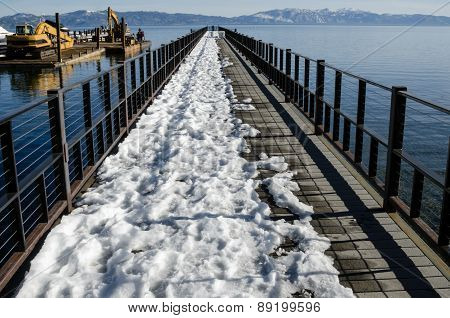 Pier With Snow