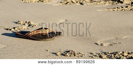 Slippers On Sand