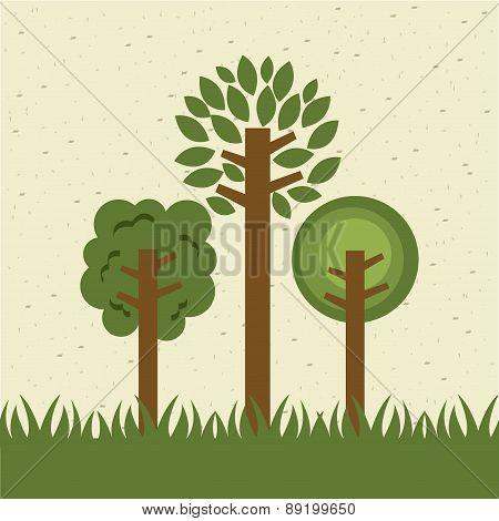 eco design over  pattern background vector illustration