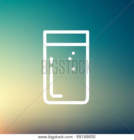 Glass of soda thin line icon