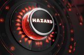 pic of hazardous  - Hazard Controller on Black Control Console with Red Backlight - JPG
