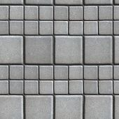 stock photo of slab  - Gray Paving Slabs Lined with Squares of Different Value - JPG