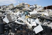 pic of raw materials  - materials collection center containing materials from which recycling raw materials - JPG