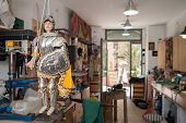 picture of paladin  - Sicilian puppet by the Compagnia dei Pupari from Syracuse hung in the studio of a sicilian marionette artisan - JPG