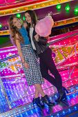 picture of carnival ride  - teens at the fair or carnival  - JPG