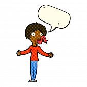 stock photo of tell lies  - cartoon woman telling lies with speech bubble - JPG