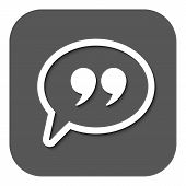 picture of quotation mark  - The Quote sign icon - JPG