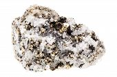 picture of iron pyrite  - Mineral pyrite in quartz known as Fool - JPG