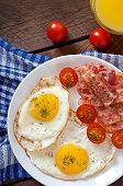 pic of bacon strips  - English breakfast  - JPG