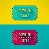 picture of passed out  - Entry ticket in modern flat design with long shadow - JPG