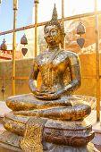 stock photo of cho-cho  - Image view of buddha at wat phrathat cho haephrae province Thailand - JPG