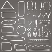 picture of oval  - Set of hand drawn correction elements - JPG
