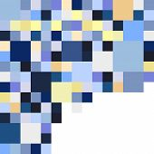 pic of parallelogram  - Abstract geometric vector varicolored background in shades of blue - JPG