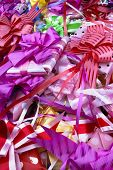 stock photo of gift wrapped  - Colorful gifts wrapped up ready for celebration - JPG