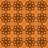 picture of fieri  - Luxury fiery orange floral pattern in oriental style - JPG