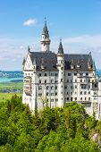 pic of bavarian alps  - Neuschwanstein Castle in the Bavarian Alps - JPG