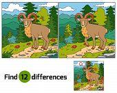 stock photo of baby sheep  - Game for children - JPG