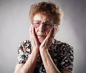 stock photo of only mature adults  - Portrait  old woman - JPG