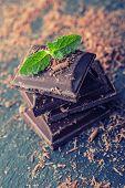 foto of mint leaf  - Chocolate - JPG