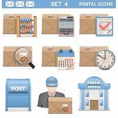 foto of mailbox  - Postal Icons Set 4 including parcel - JPG