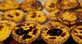 picture of pasteis  - Tray with loads of delicious portuguese pastries - JPG