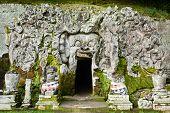 image of cave  - Goa Gajah cave temple  - JPG