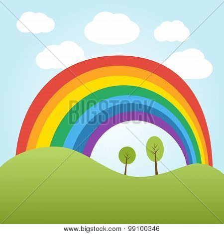 Rrainbow Over The Hill