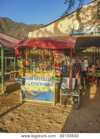 Traditional Beach Bar In Taganga Colombia