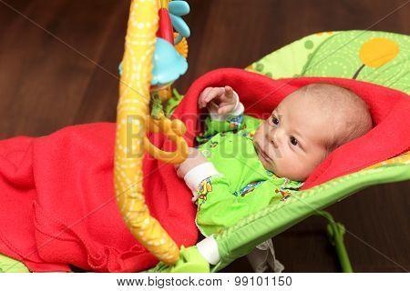 Newborn In The Rocking Chair