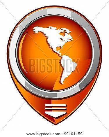 Americas Round Orange Pointer