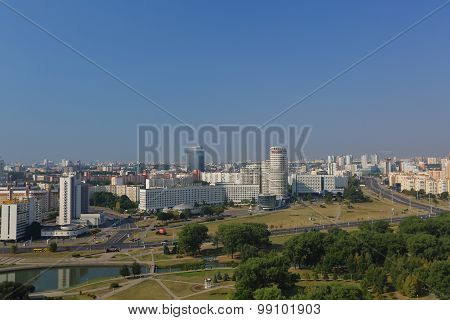 View from the observation deck in Minsk, Belarus