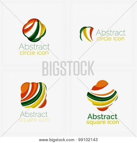 Clean elegant circle shaped abstract geometric logo. Universal for any idea.  illustration